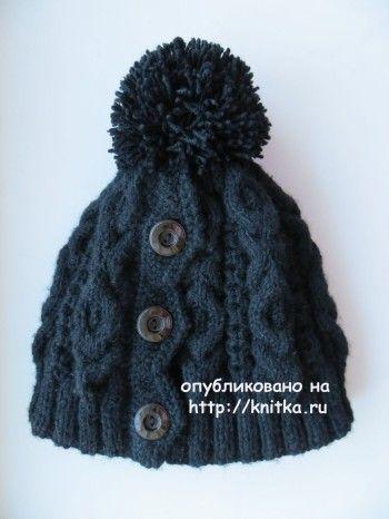 Вязаная шапочка - работа Нины Колотило