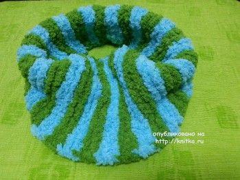 Детские шарфы спицами - работы Майи Ким