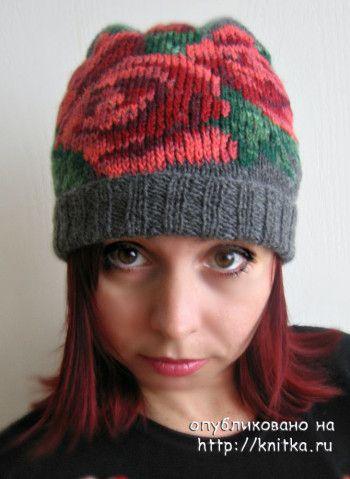шапочка спицами шапочка