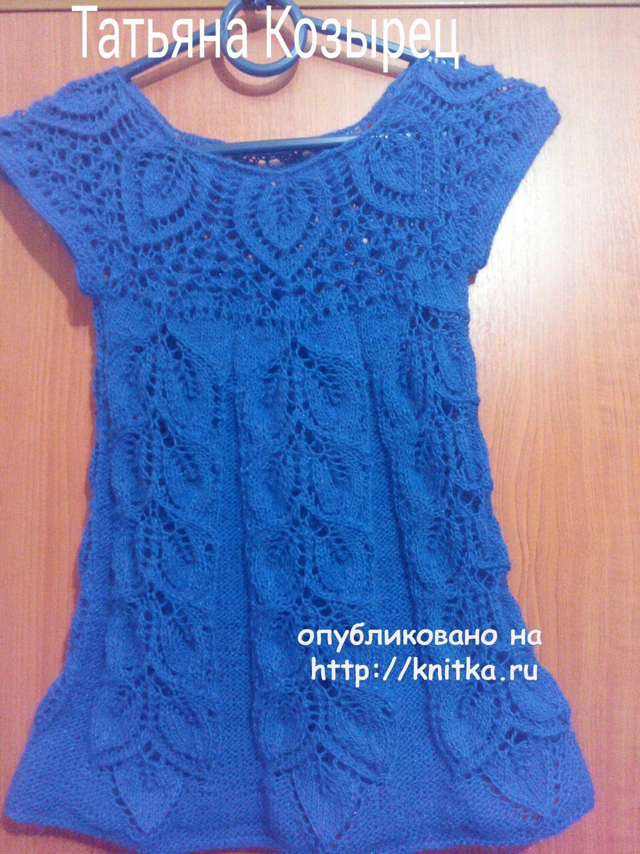 платье для девочки работа татьяны вязание для детей