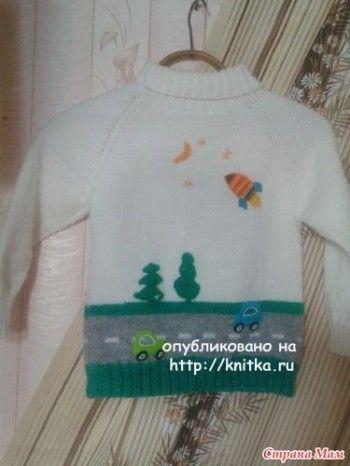 Свитер для мальчика - работа Татьяны Александровны