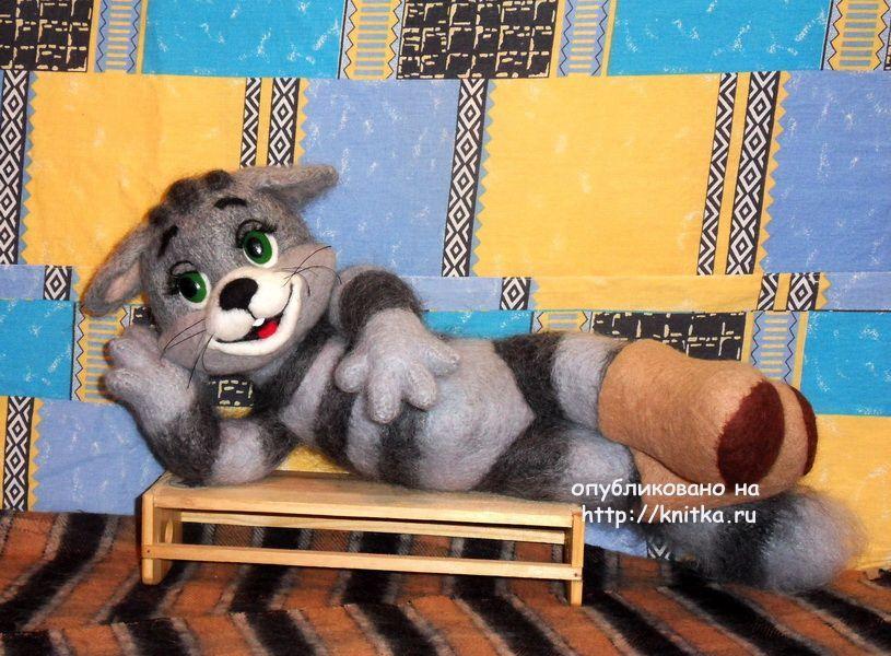 Игрушка кот Матроскин связаный спицами,  Вязаные игрушки
