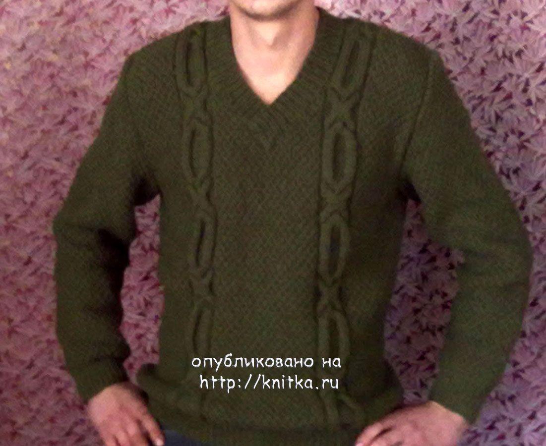 Рисунок на мужской свитер для вязания 22
