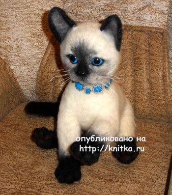 Игрушки - котята. Работы Ирины. Вязание спицами.