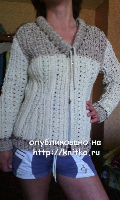 женская кофта спицами