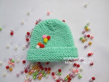 Детские шапочки спицами - работы Марии Гнедько вязание и схемы вязания