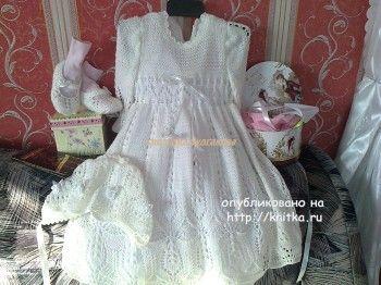 Комплект для девочки - работа Светланы Булгаковой. Вязание спицами.