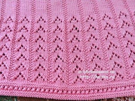 Розовый топ спицами - работа Надежды Лавровой вязание и схемы вязания