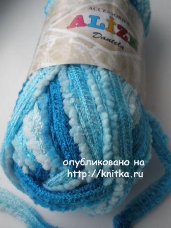 Вязаная спицами юбочка - работа Галины вязание и схемы вязания