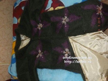 Вязаное спицами пальто - работа Оксаны вязание и схемы вязания