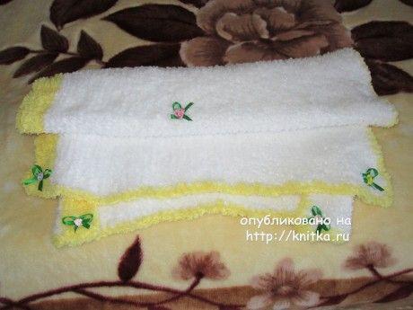Вязаный спицами детский плед - работа Марии Гнедько вязание и схемы вязания