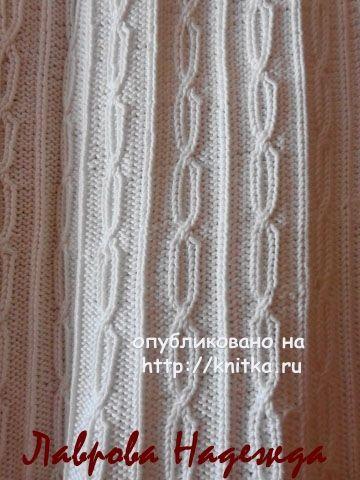 Вязаный спицами топ - работа Надежды Лавровой вязание и схемы вязания