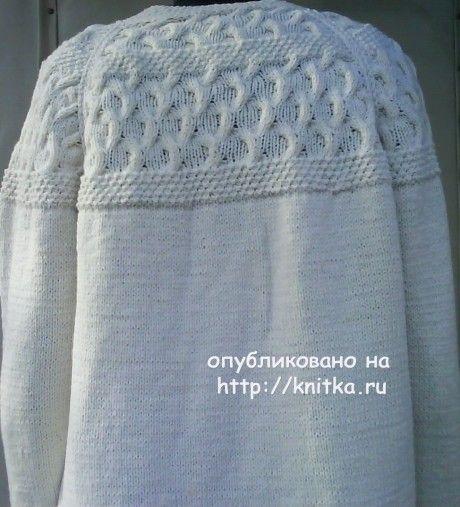 Вязаный спицами жакет - работа Ирины вязание и схемы вязания