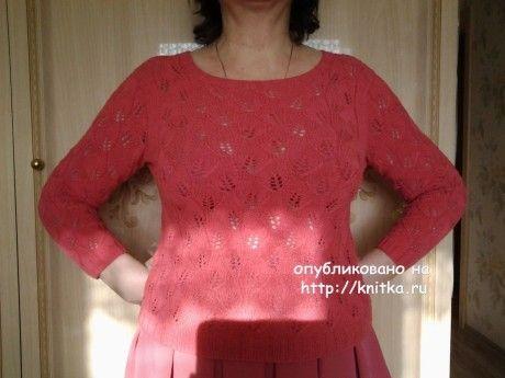 Летний пуловер для женщин спицами - работа Primma. Вязание спицами.