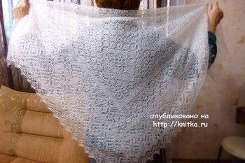 Вязаные спицами паутинки - работы Нины Ивановны