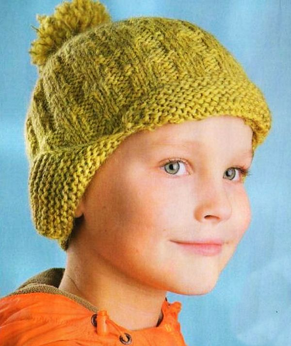 32 шапки для мальчика спицами с описанием и схемами вязания c6a45fc8129c2