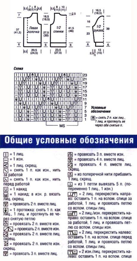 Ажурная схема жакета