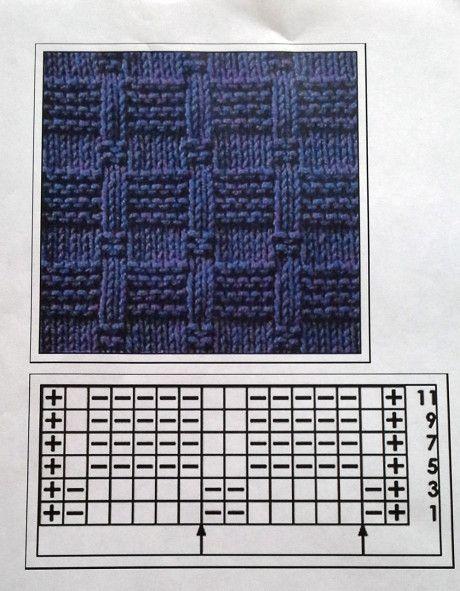 Схема вязания пальто: