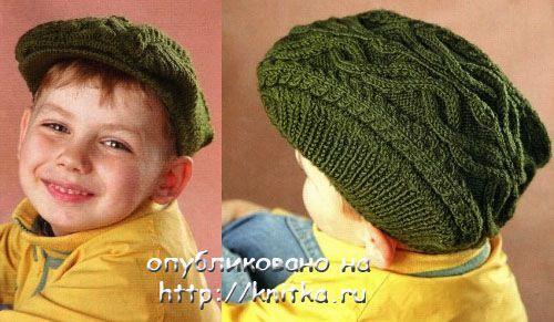 вязанию шапки для мальчика