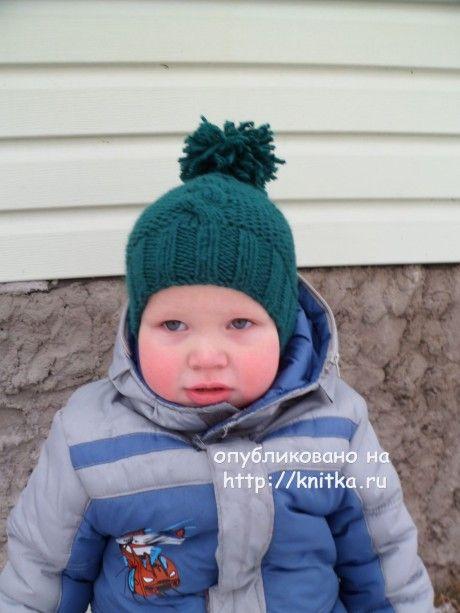 шапка для мальчика спицами