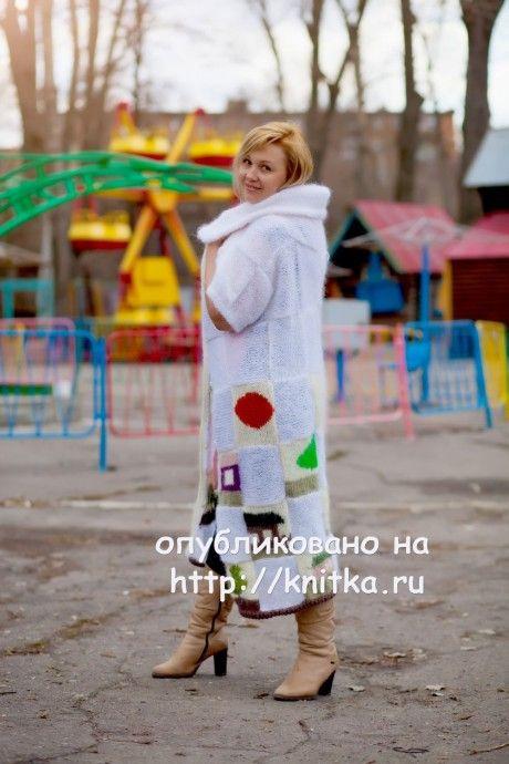 Кардиган спицами Нежность - работа Оксаны вязание и схемы вязания