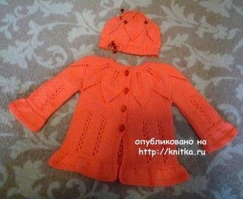 Комплект для малыша спицами - работа Елены Антиповой вязание и схемы вязания