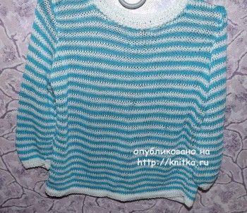 Свитер для мальчика спицами - работа Оксаны вязание и схемы вязания