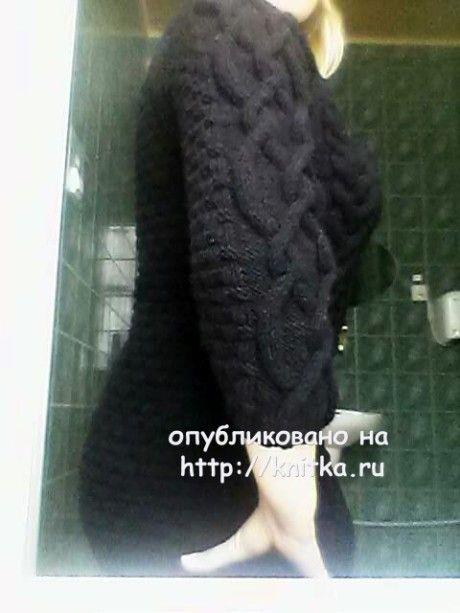 Теплая туника спицами - работа Оксаны вязание и схемы вязания