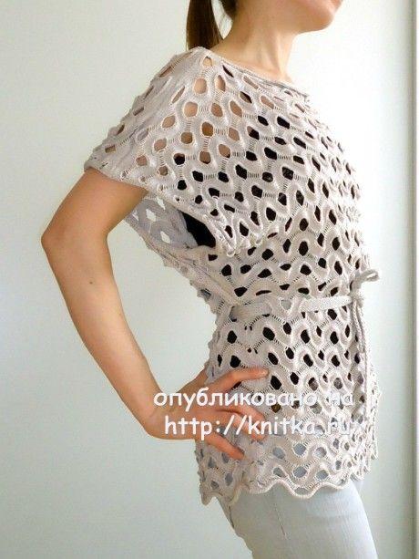 Вязаная спицами туника - работа Анны Николаевой вязание и схемы вязания