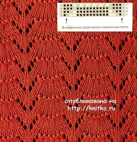 Схема вязания ажурной блузки: