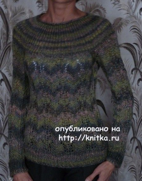 Джемпер спицами - работа Марины Ефимовой вязание и схемы вязания