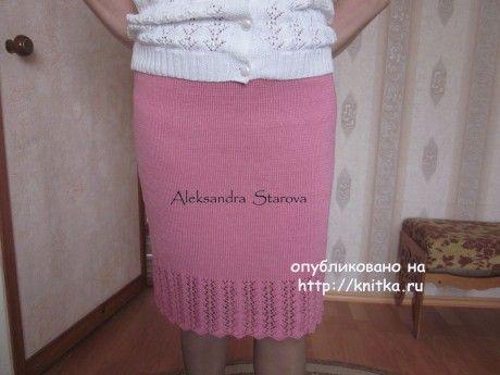 Кофта и юбка спицами - работы Александры Старовой вязание и схемы вязания