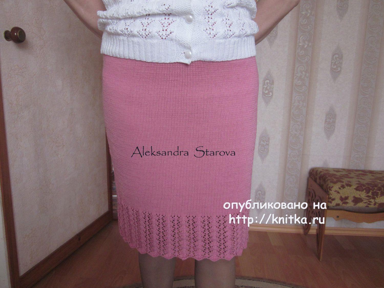 Вязание простой юбки на спицах