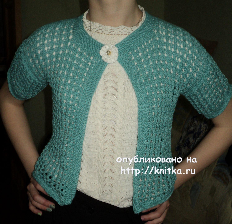 Кофточка с шишечками для девочки  схема вязания спицами