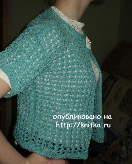 Кофточка - болеро спицами. Работа Ольги вязание и схемы вязания