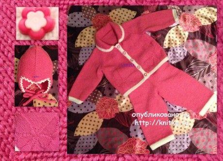 Комплект для девочки спицами - работа Ларисы Величко. Вязание спицами.