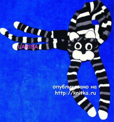 Кото - шарф, связанный спицами вязание и схемы вязания