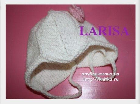 Шапочка и носочки спицами - работы Ларисы Величко вязание и схемы вязания