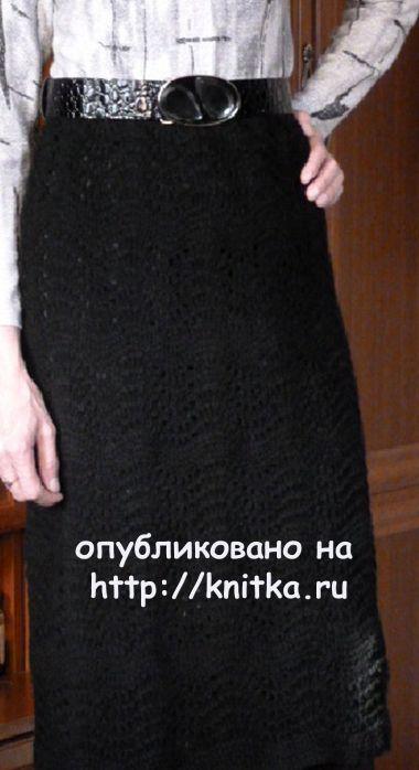 Вязаная спицами юбка - работа Марины Ефименко. Вязание спицами.