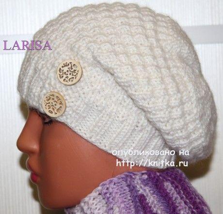 Женская шапка - работа Ларисы Величко вязание и схемы вязания