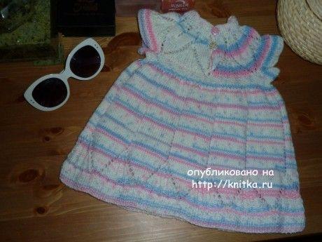 Вязаное платье для девочки - работа Светланы вязание и схемы вязания