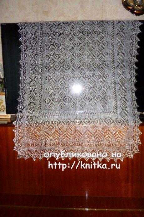 Вязаные спицами палантины - работы Нины Ивановны вязание и схемы вязания