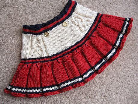 Вязаная юбка для девочки. Вязание спицами.