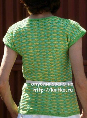 Летняя кофточка спицами - работа Марины Ефименко вязание и схемы вязания