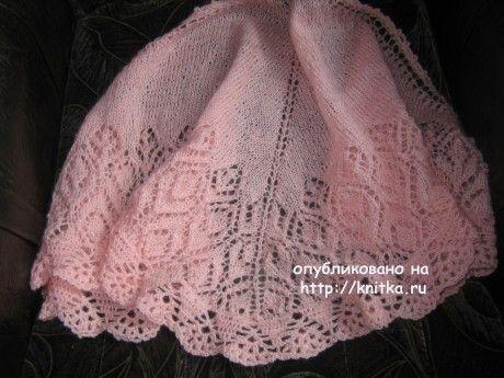 Шаль спицами - работа Gunta  Minalgo вязание и схемы вязания