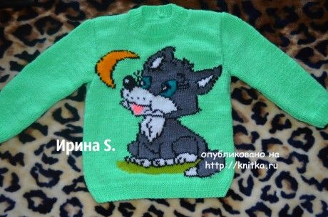 Детский свитер спицами. Работа Ирины Стильник вязание и схемы вязания