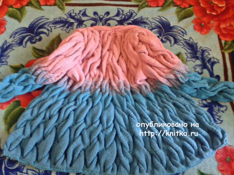 Вязание спицами кардиганов с косами