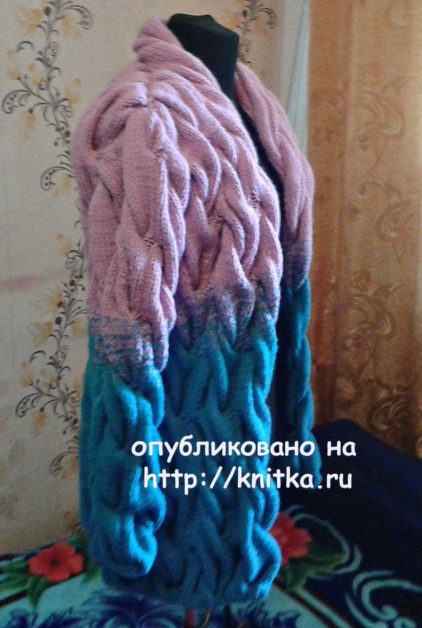 Вязаный женский кардиган. Работа Лидии Климович