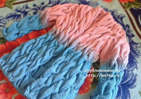 Кардиган спицами Лало – работа Люси Туевой. Вязание спицами.