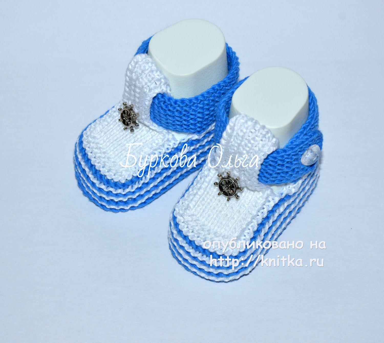 пинетки от 0 до 3 месяцев схема вязания